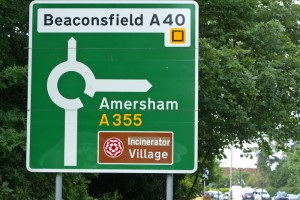 Incinerator Village sign for Beaconsfield