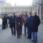 UKWIN Chair Callum MacKenzie with campaigners from Gloucestershire prior to the TRASHED screening at the House of Commons